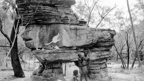 Reverberations of a rock painting episode in Kakadu National Park