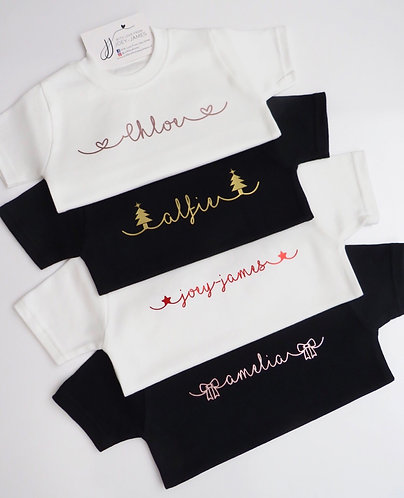 Personalised Christmas Scroll T-Shirt