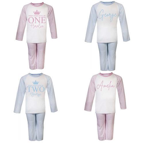 Personalised Stripe Pyjamas