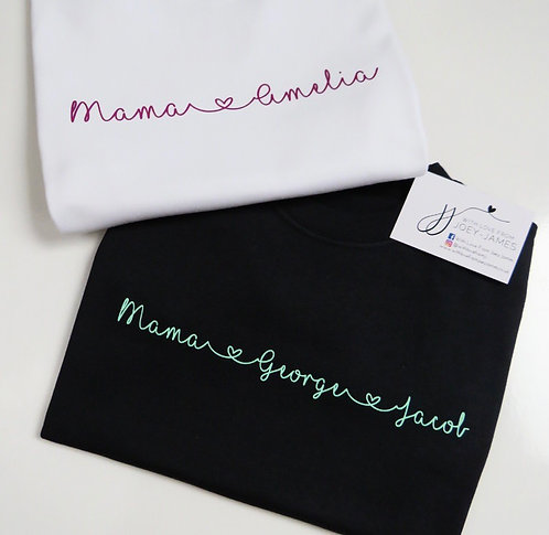 Personalised Mama Scroll T-Shirt
