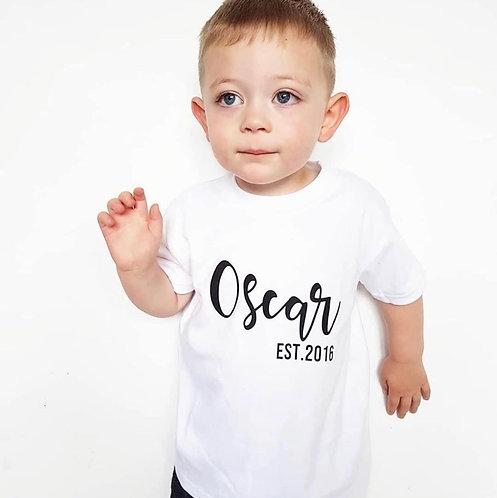 Personalised EST. T-Shirt