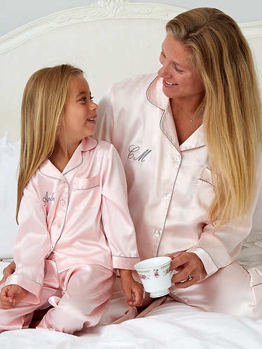 Ladies Personalised Satin Pyjamas