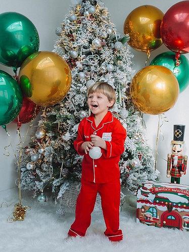 Children's Personalised Pocket Christmas Pyjamas