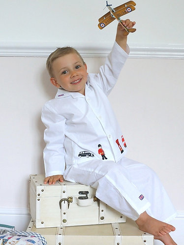 Personalised Vintage London Pyjamas