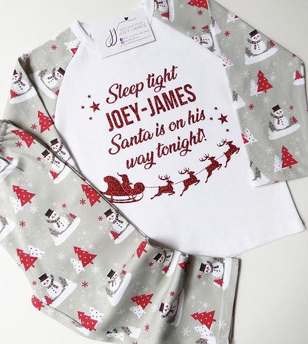 Personalised Snowman Pyjamas