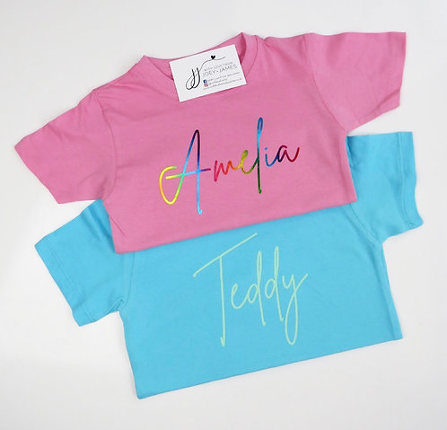 Coloured Signature T-Shirt