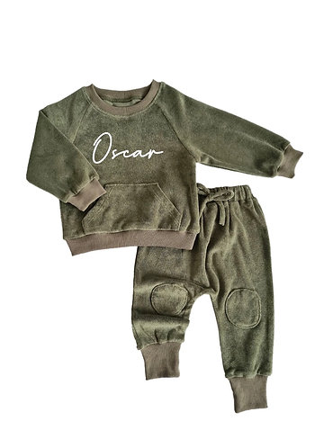 Personalised Towelling Cotton Tracksuit