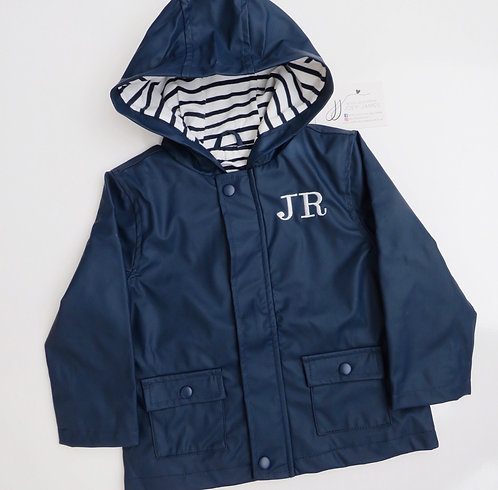Embroidered Initial Raincoat