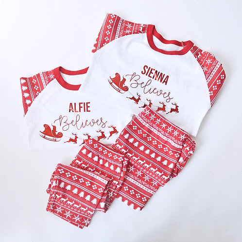 Women's Fairisle Christmas Pyjamas