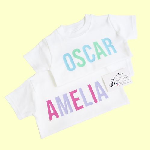 Personalised Colour Block T-Shirt