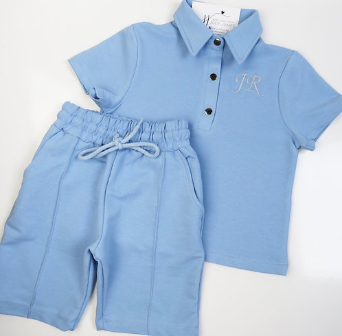 Personalised Collared Short Set