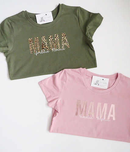 Personalised Mama T-Shirt