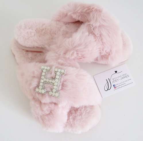 Personalised Faux Fur Slippers