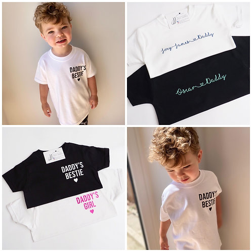 Personalised Daddy and Me t-shirt