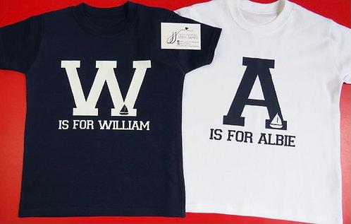 Personalised Alphabet T-Shirt