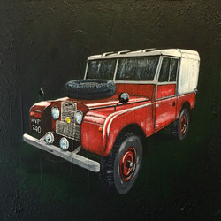 Red Landrover