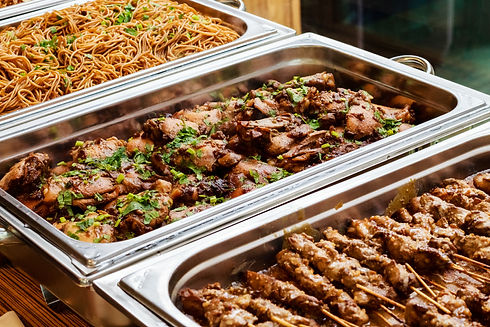 Catering Buffet Food Dish with Meat and