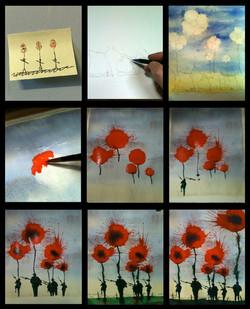 Poppies Progress