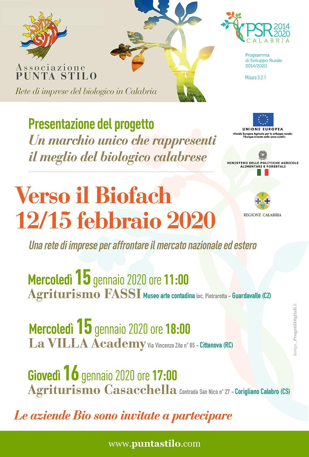 Incontro di presentazione progetto di promozione dei prodotti biologici calabresi