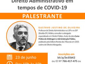 """Webinar """"Direito Administrativo em tempos de COVID-19"""""""