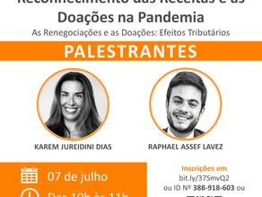 """Webinar """"Reconhecimento das Receitas e as Doações na Pandemia"""""""