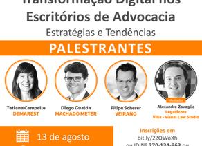 """Webinar: """"Transformação Digital nos Escritórios de Advocacia - Estratégias e Tendências"""""""