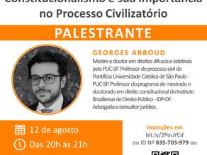 """Webinar: """"Constitucionalismo e sua importância no processo civilizatório"""""""