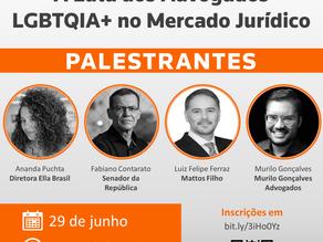 """Webinar: """"A Luta dos Advogados LGBTQIA+ no Mercado Jurídico"""""""