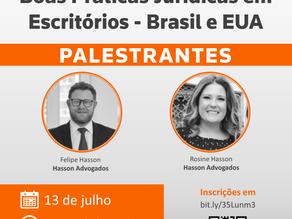 """Webinar: """"Boas Práticas Jurídicas em Escritórios - Brasil e EUA"""""""