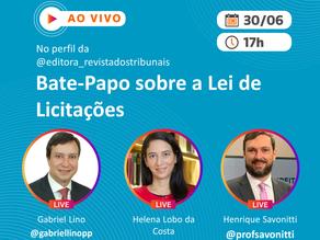 """Live: """"Bate-Papo sobre a Lei de Licitações"""""""