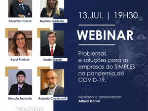 Webinar: Problemas e soluções para empresas do SIMPLES na pandemia do COVID-19