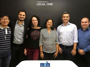 Uma visita repleta de novidades sobre o Legal One, capacitação e troca de experiência.