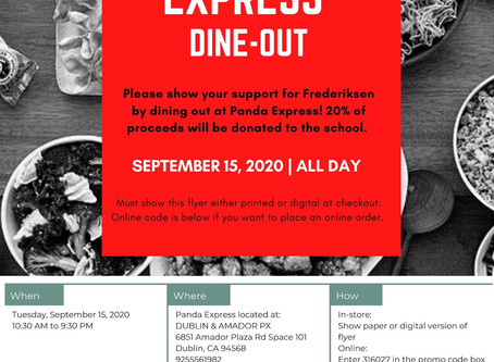 Dine-Out Panda Express September 15th