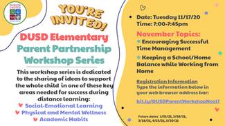 DUSD Elementary Parent Partnership Workshop Series