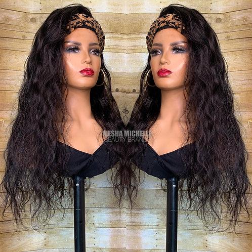 """""""Kourtney"""" BW Headband wig"""