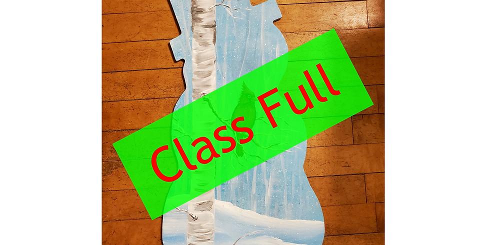 Wood Cutout Snowman Paint Class - FULL