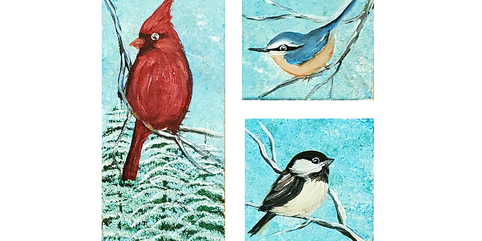 Winter Birds 3pc Paint Class