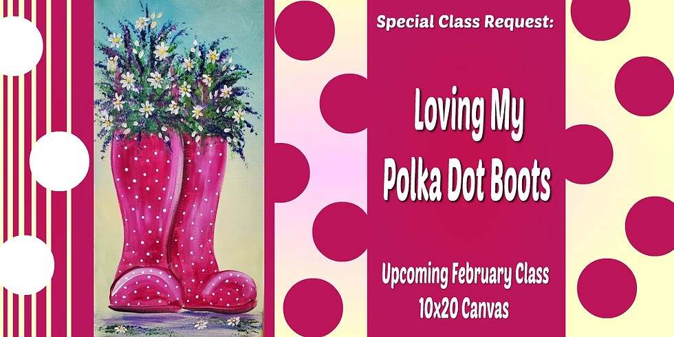 Loving My Polka Dot Boots