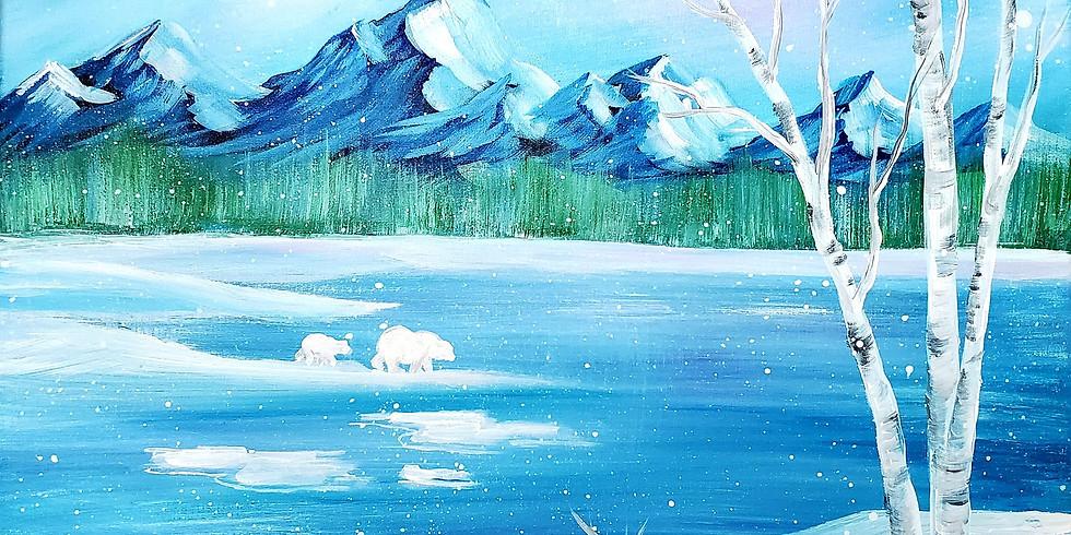 Winter Mountains Paint Class