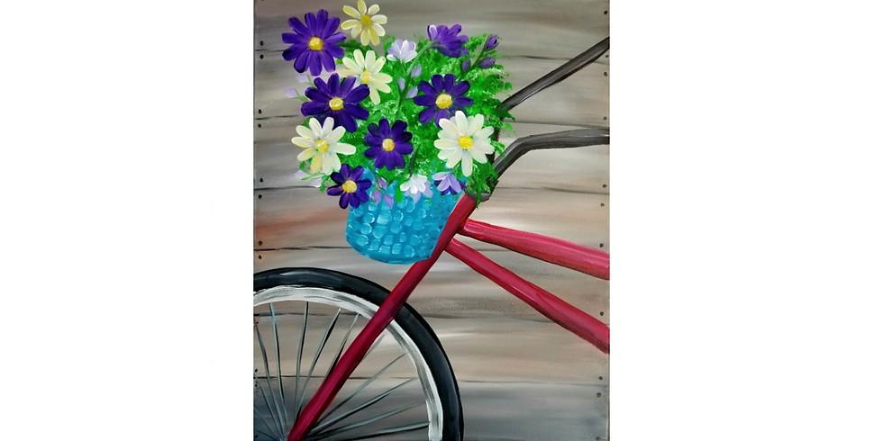 Bike & Purple Daisies