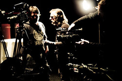Preparing for 3 camera shoot of hip hop performances