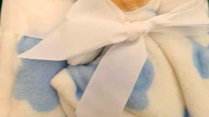 Kit bebê com manta e naninha bichinho