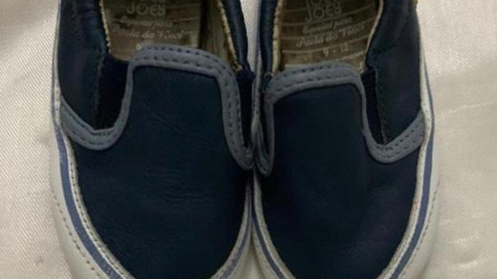 Tênis couro azul marinho