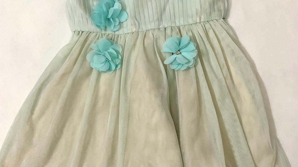 Vestido Festa Marisol flores azul
