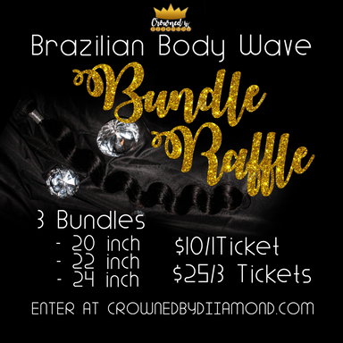 Crowned By Diiamond Raffle Flyer