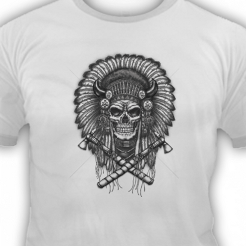 SKULL WITH INDIAN HEADRESS