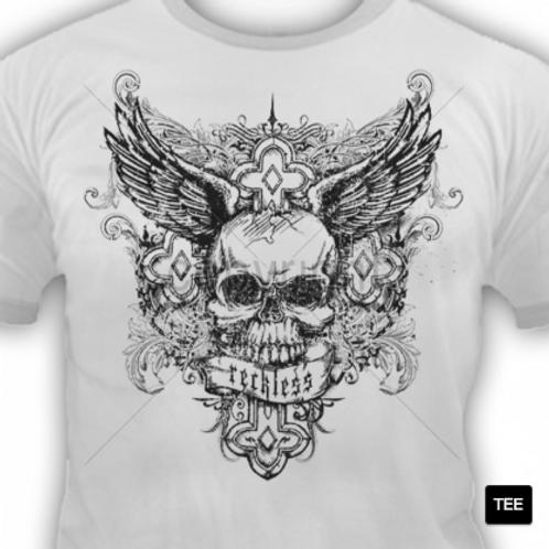 Reckless Wing Skull Cross