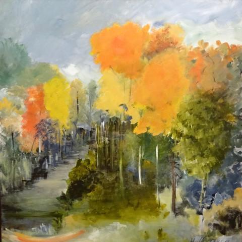 Herbst (Acryl auf Leinwand, 80x80cm)