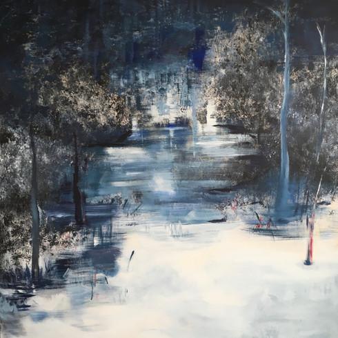 Lichtung (Acryl auf Leinwand, 100x100cm)