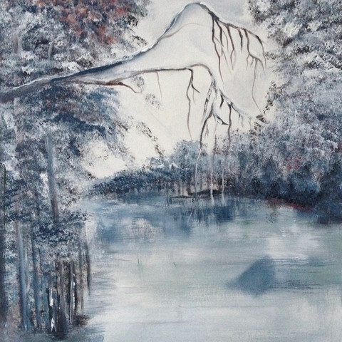 Winter 2016 (Acryl auf Leinwand, 50x50cm)